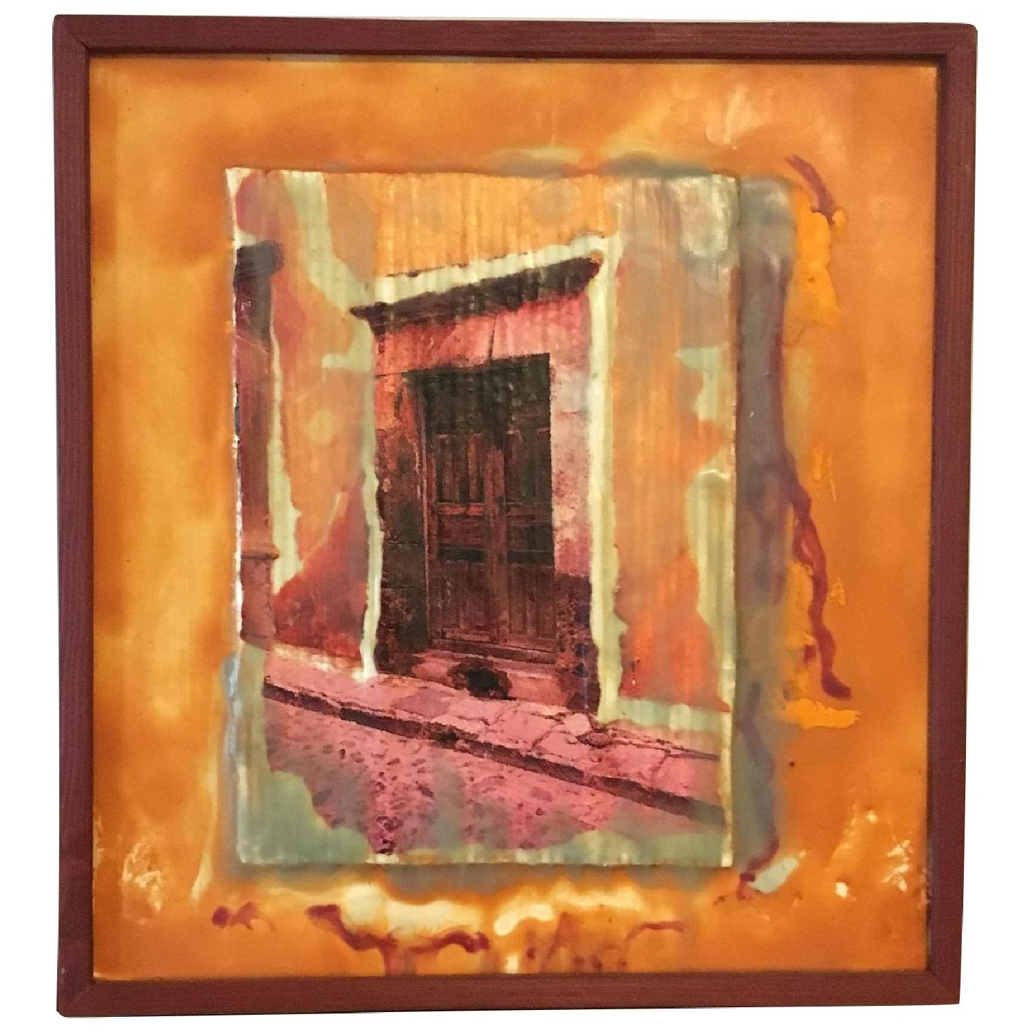 Calle Morada Collage Encaustic Beeswax