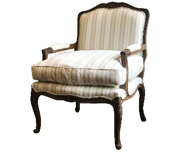 French Style Custom Bergere Chair