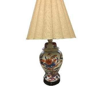 Vintage Knob Creek Ceramic White /Blue/Orange Table Lamps