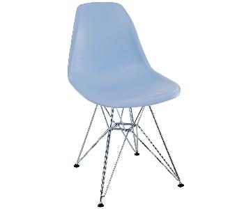 Powder Blue Mid Century Chair