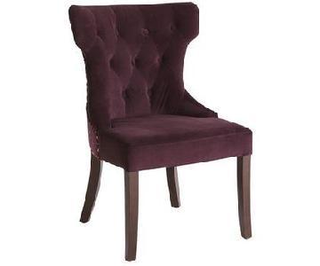 Pier 1 Purple Velvet Embroidered Chair