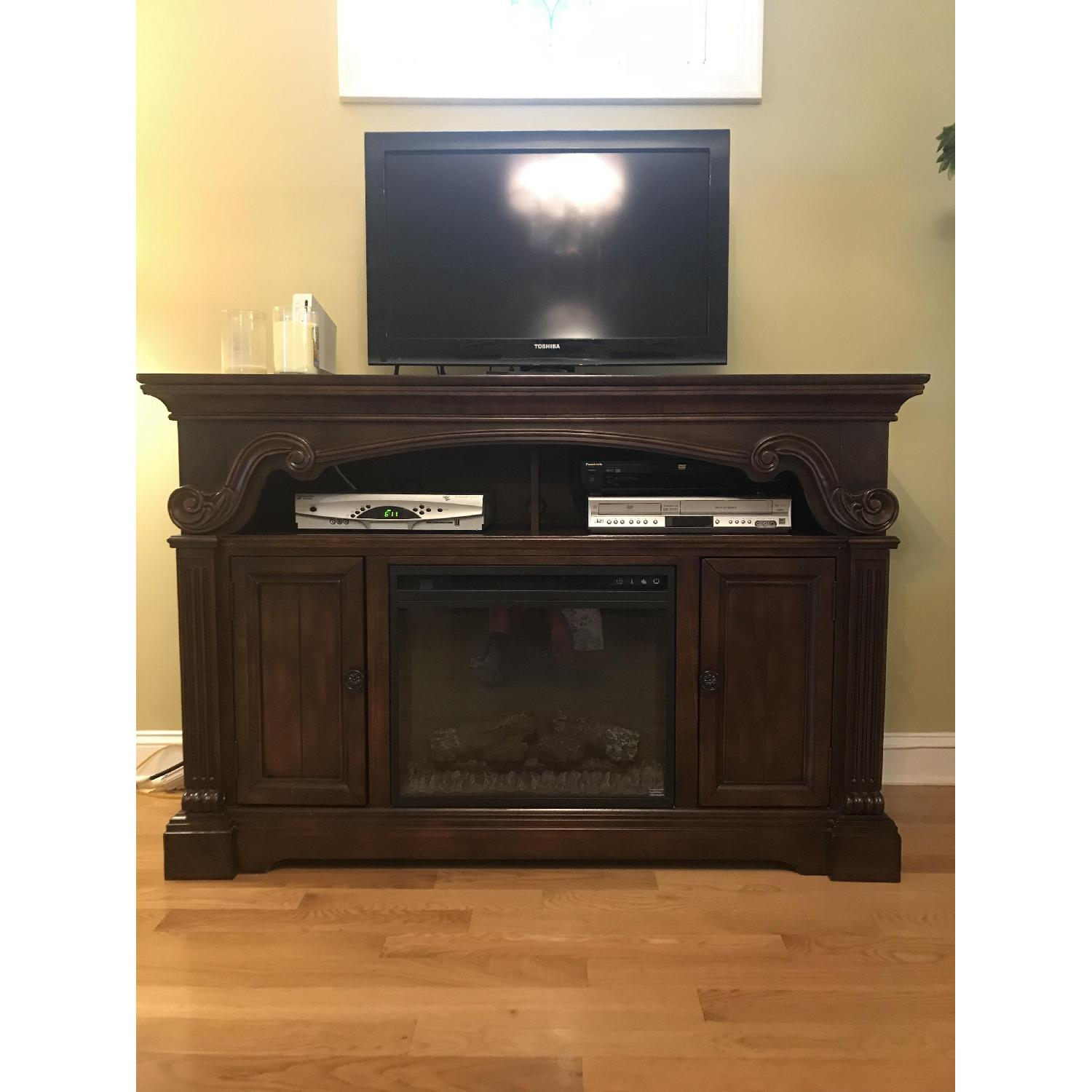 Ashley TV Stand w/ Electric Fireplace - image-1