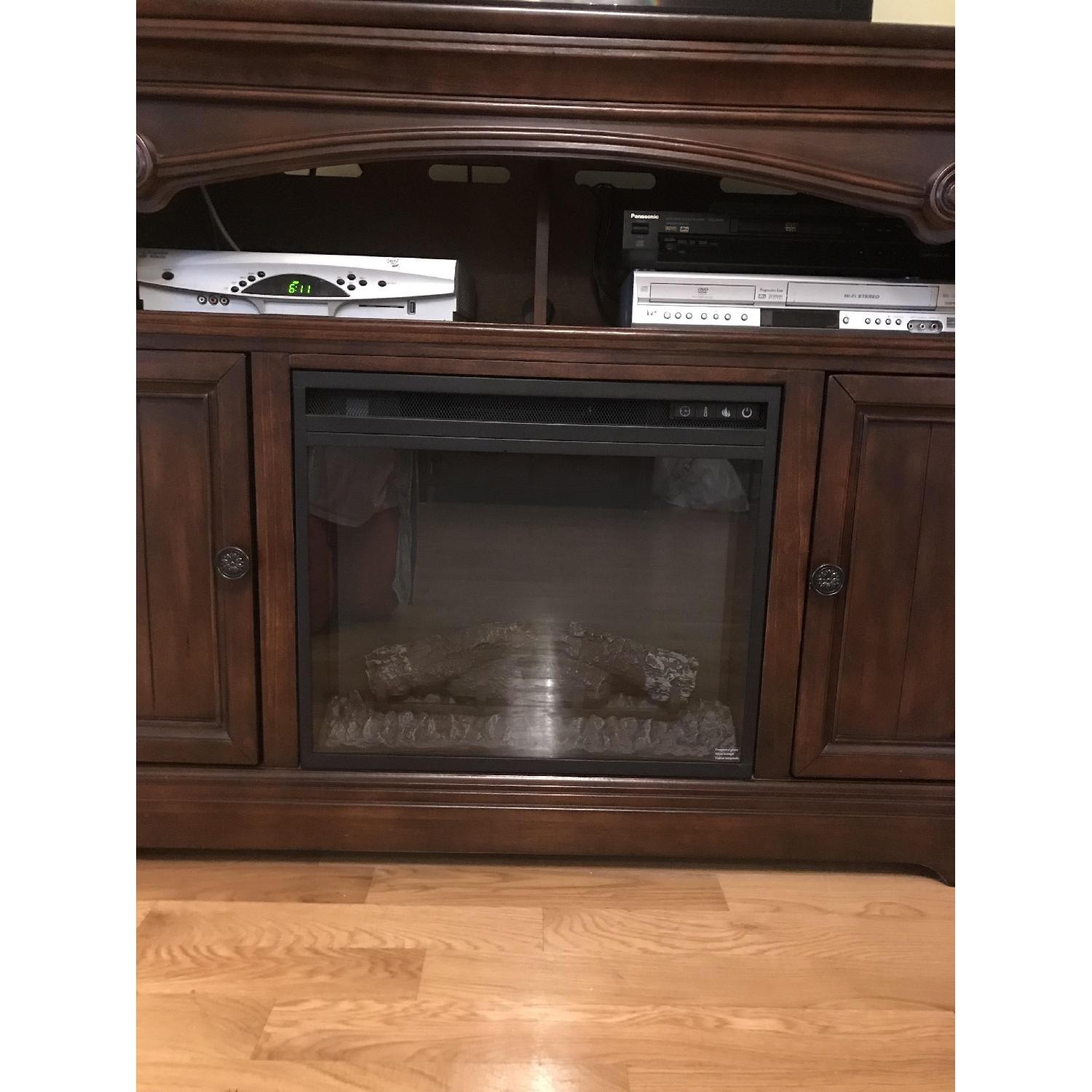 Ashley TV Stand w/ Electric Fireplace - image-2