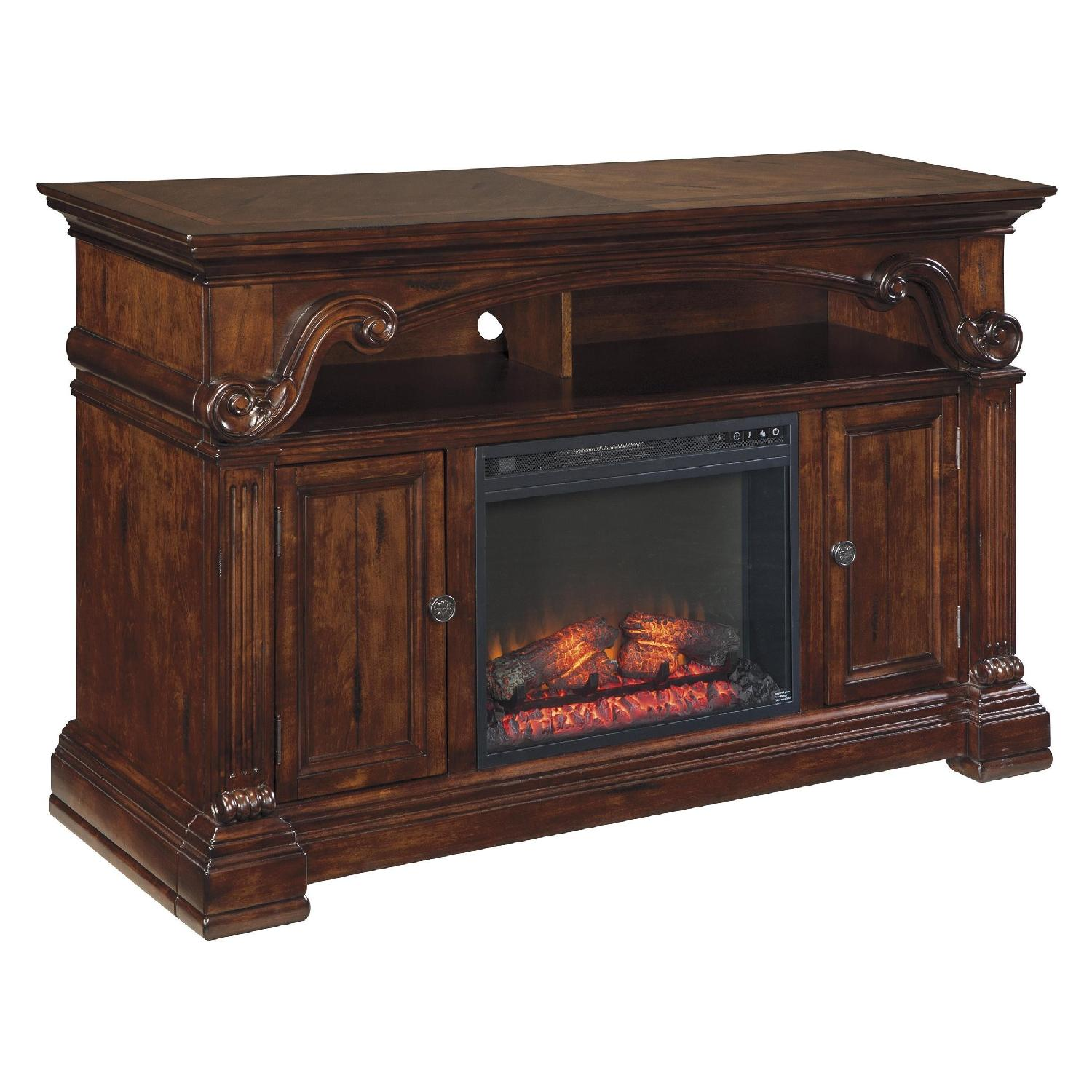 Ashley TV Stand w/ Electric Fireplace - image-0