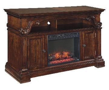 Ashley TV Stand w/ Electric Fireplace