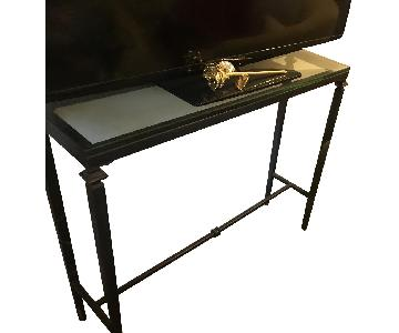 Iron & Glass TV/Side Table