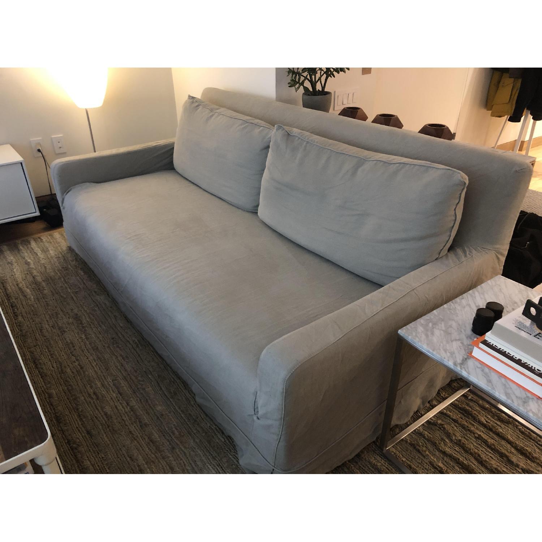 Restoration Hardware Linen Slipcover Sofa - image-2