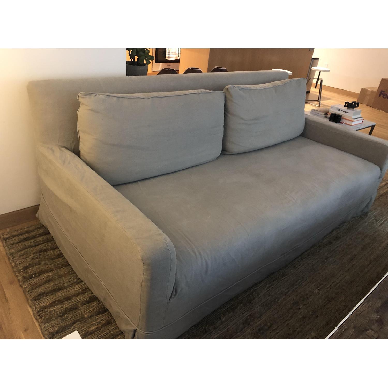 Restoration Hardware Linen Slipcover Sofa - image-3
