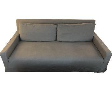 Restoration Hardware Linen Slipcover Sofa