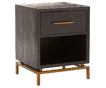 West Elm Alexa Black Nightstand