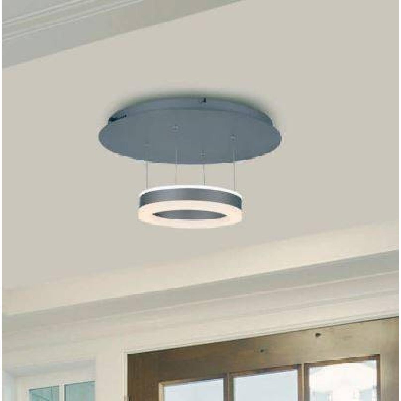 Modern LED Brushed Aluminum Ceiling Light-0