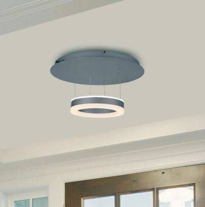 Modern LED Brushed Aluminum Ceiling Light