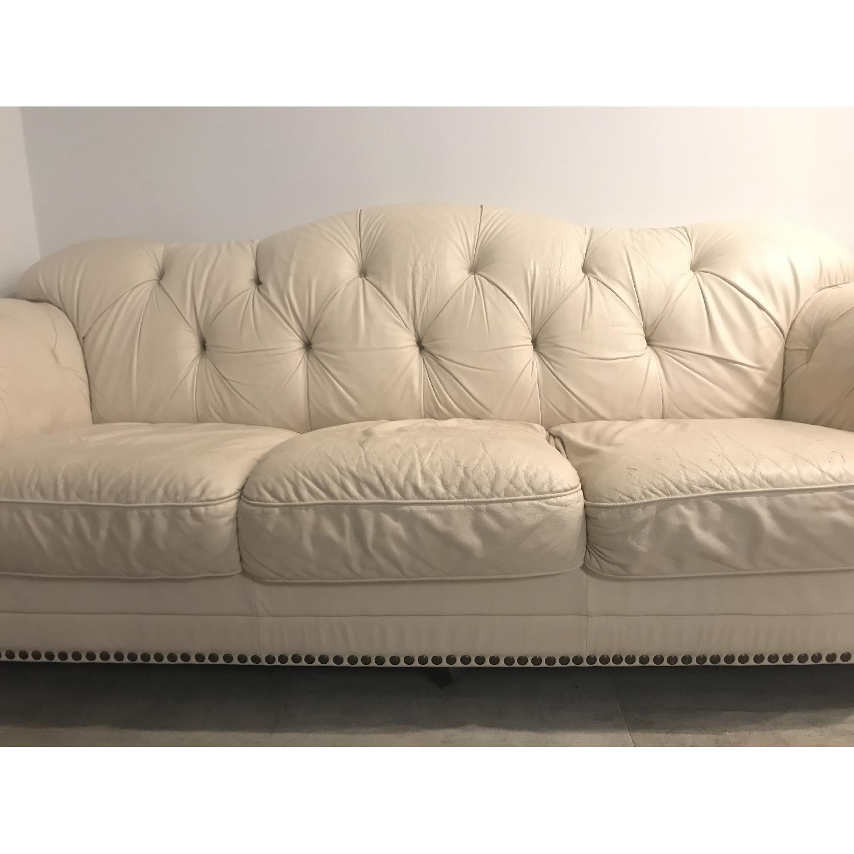 Tufted Leather Sofa - image-2