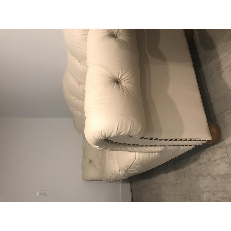 Tufted Leather Sofa - image-3