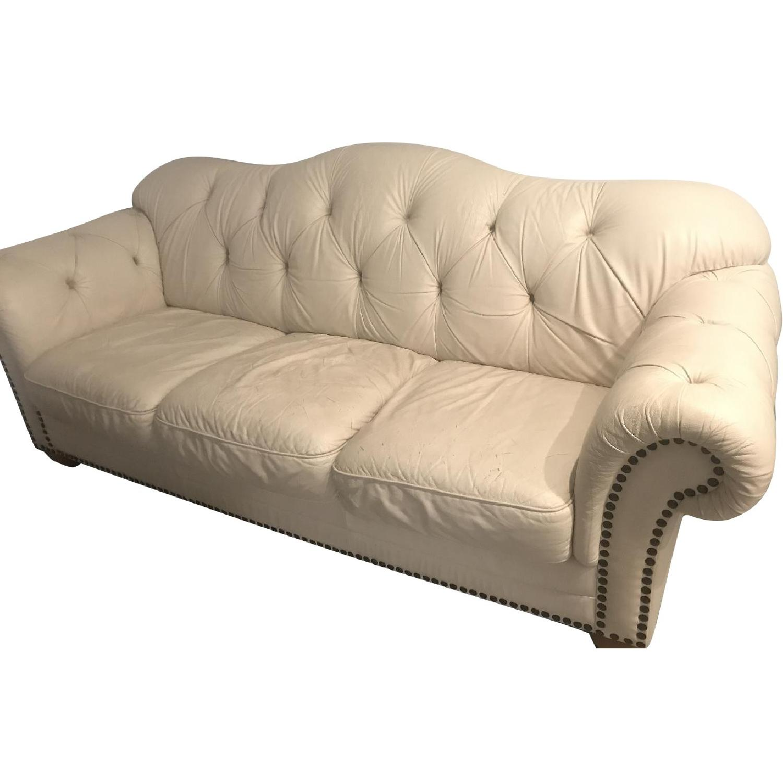 Tufted Leather Sofa - image-0