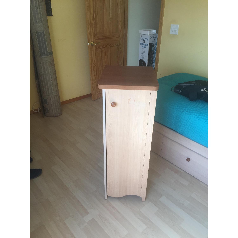 Pine Wood Dresser w/ Cabinet - image-1