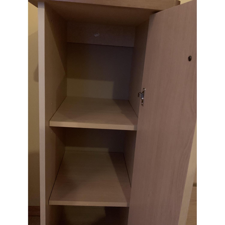 Pine Wood Dresser w/ Cabinet - image-2