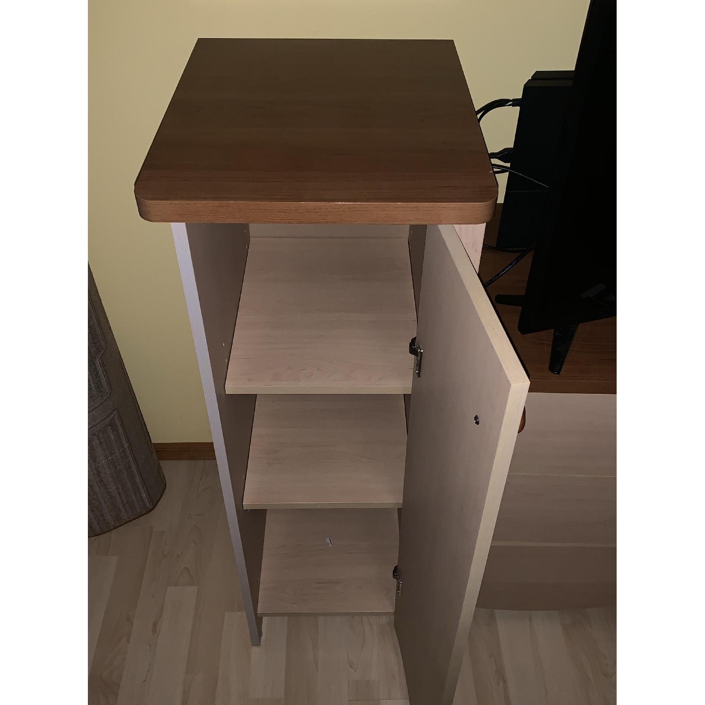 Pine Wood Dresser w/ Cabinet - image-3