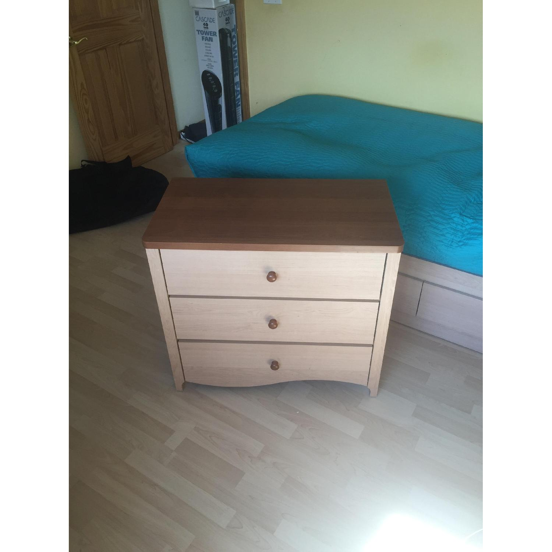 Pine Wood Dresser w/ Cabinet - image-5