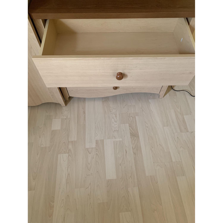Pine Wood Dresser w/ Cabinet - image-7