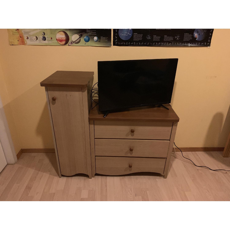 Pine Wood Dresser w/ Cabinet - image-8