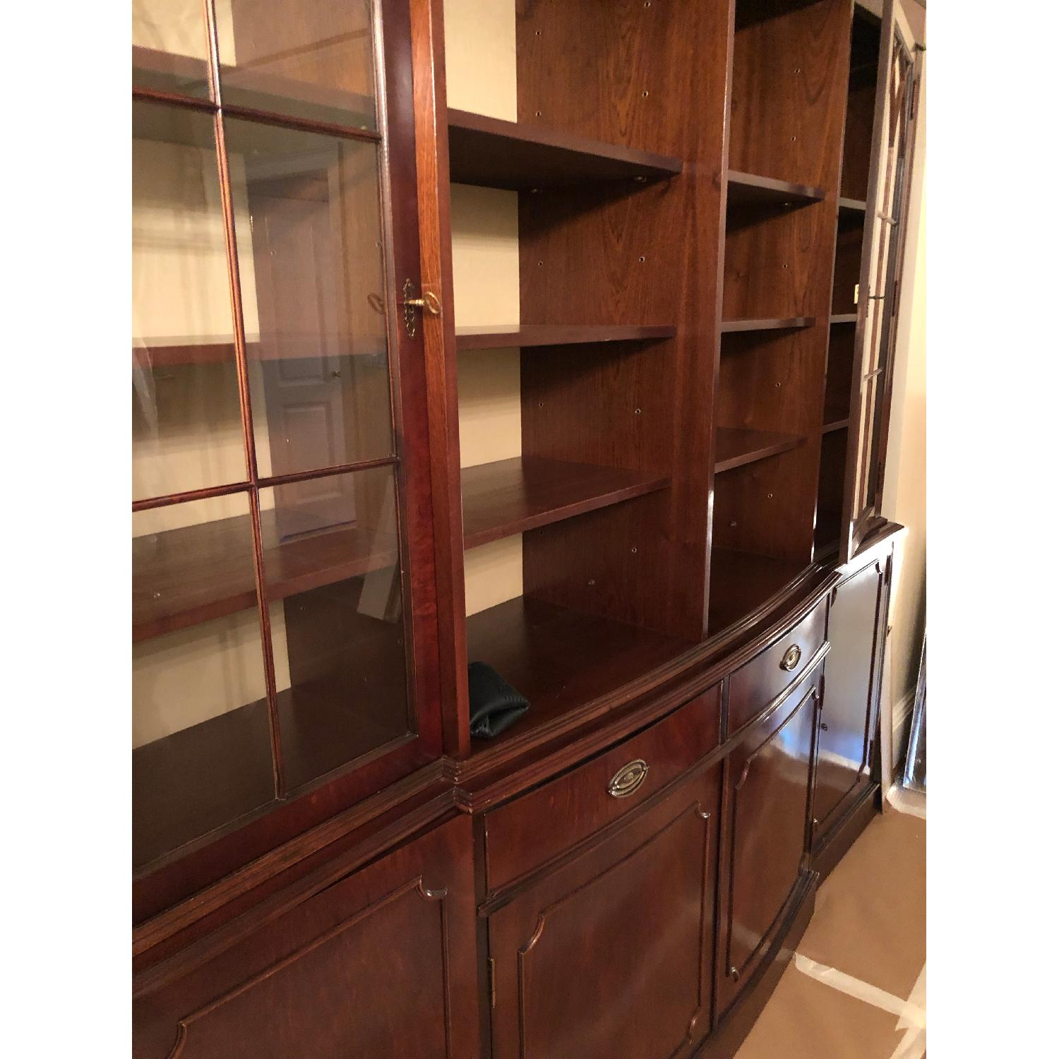 Wood Entertainment Wall Unit - image-2