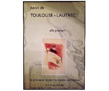 Toulouse Lautrec Vintage Poster Framed