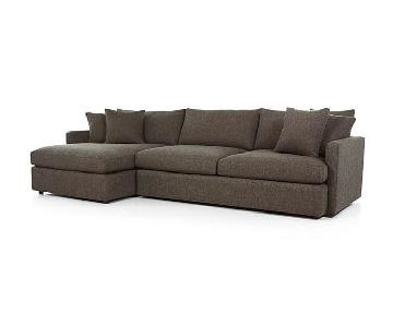 Crate & Barrel Lounge II 2 Piece Sectional Sofa