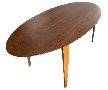 Cherner Oval Table in Walnut Finish