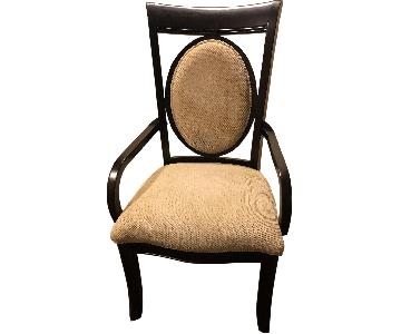 Raymour & Flanigan Solid Wood Upholstered Accent Chairs