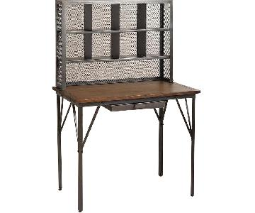 World Market Industrial Standing Desk w/ Storage Hutch