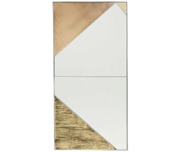 West Elm Infinity Glass + Metal Mirror Panels