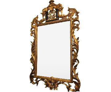 Replica Baroque Style Wood Mirror