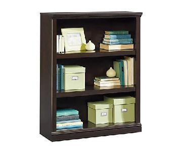 Sauder Jamocha Wood 3-Shelf Bookcase