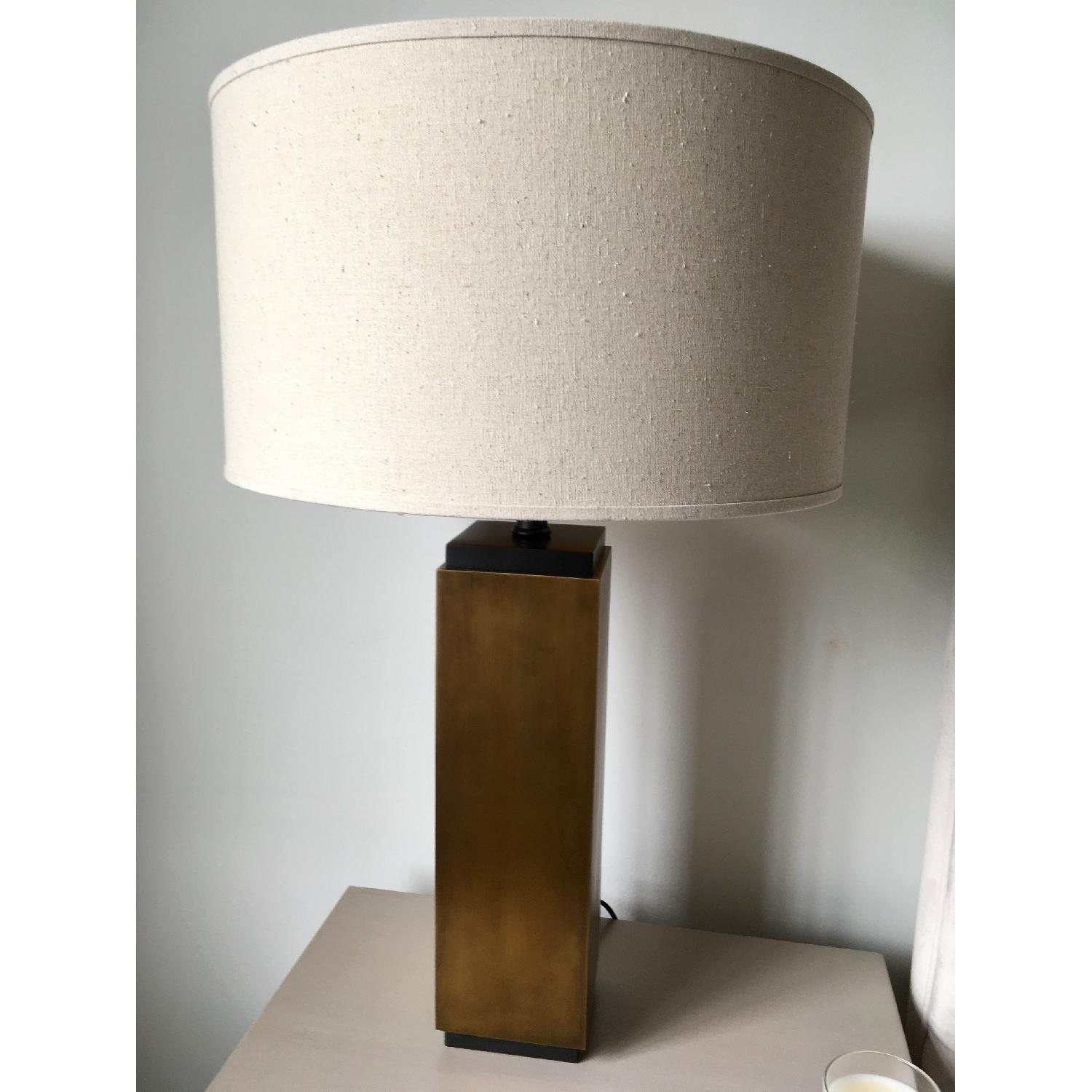 Restoration Hardware Square Column Accent Lamps - image-1