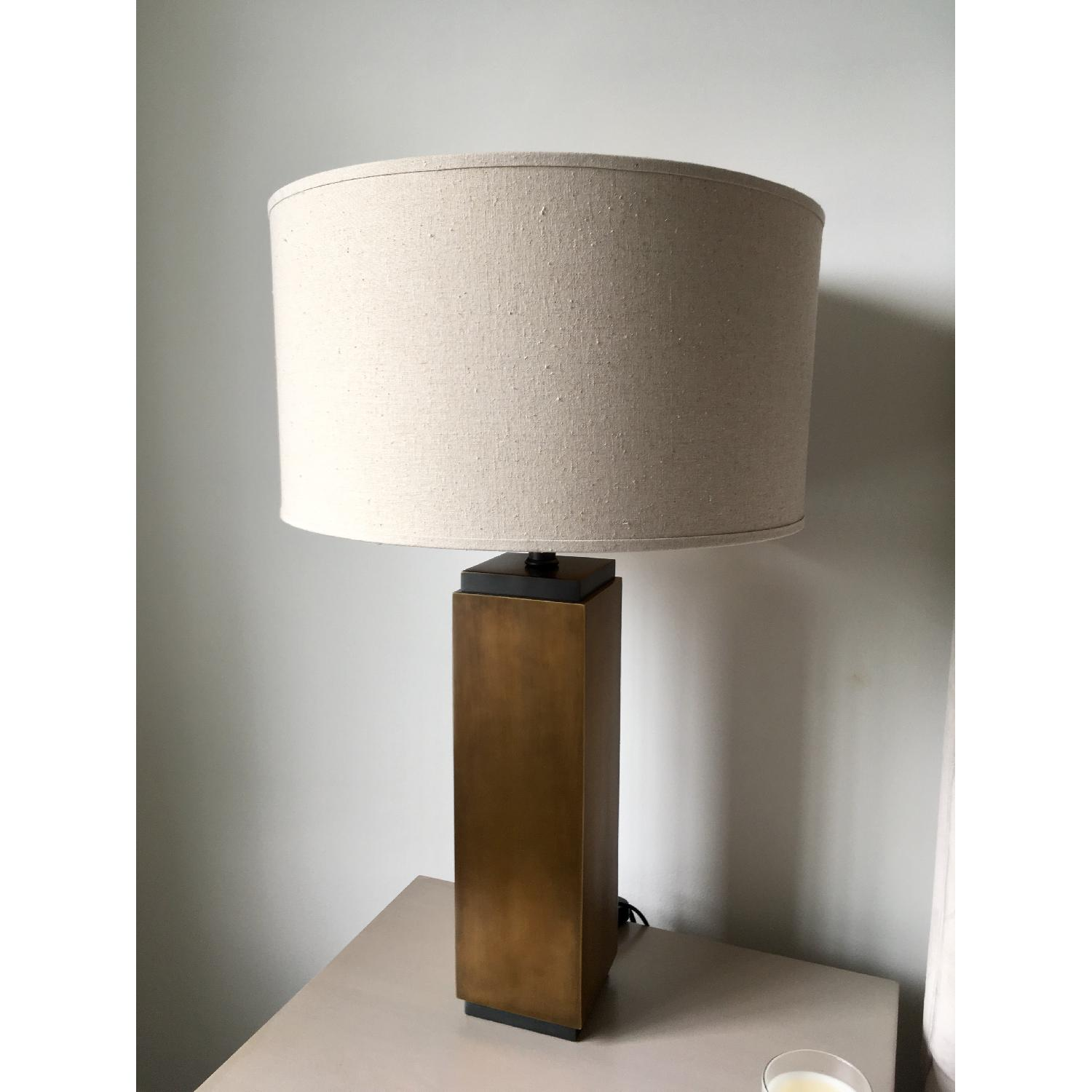 Restoration Hardware Square Column Accent Lamps - image-2