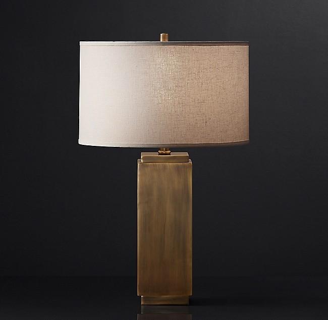 Restoration Hardware Square Column Accent Lamps