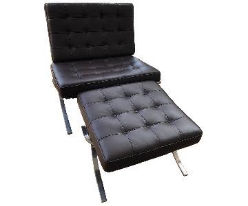Alphaville Design Barcelona Chair & Ottoman