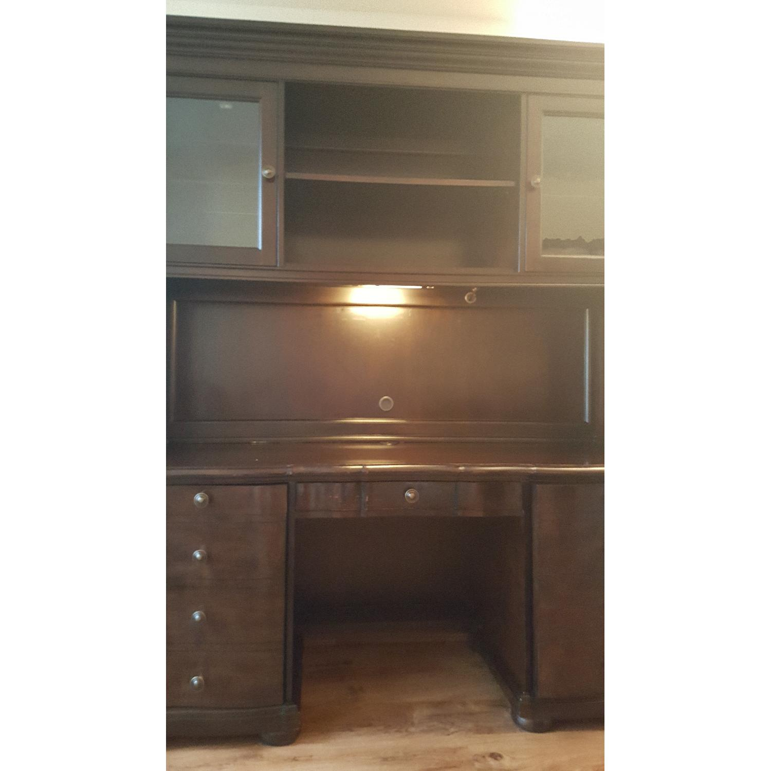 Raymour & Flanigan Desk & Hutch - image-2