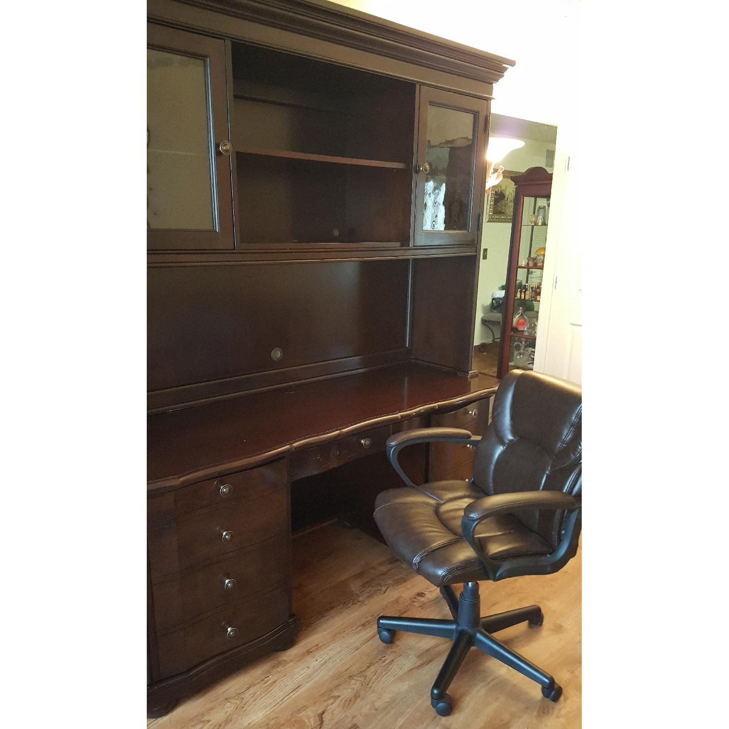 Raymour & Flanigan Desk & Hutch - image-3