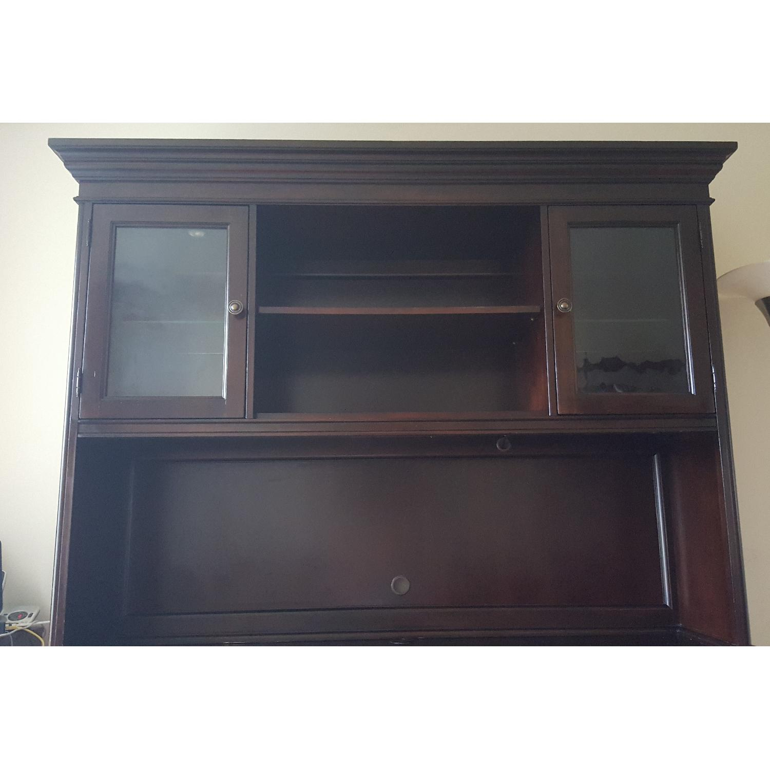 Raymour & Flanigan Desk & Hutch - image-4