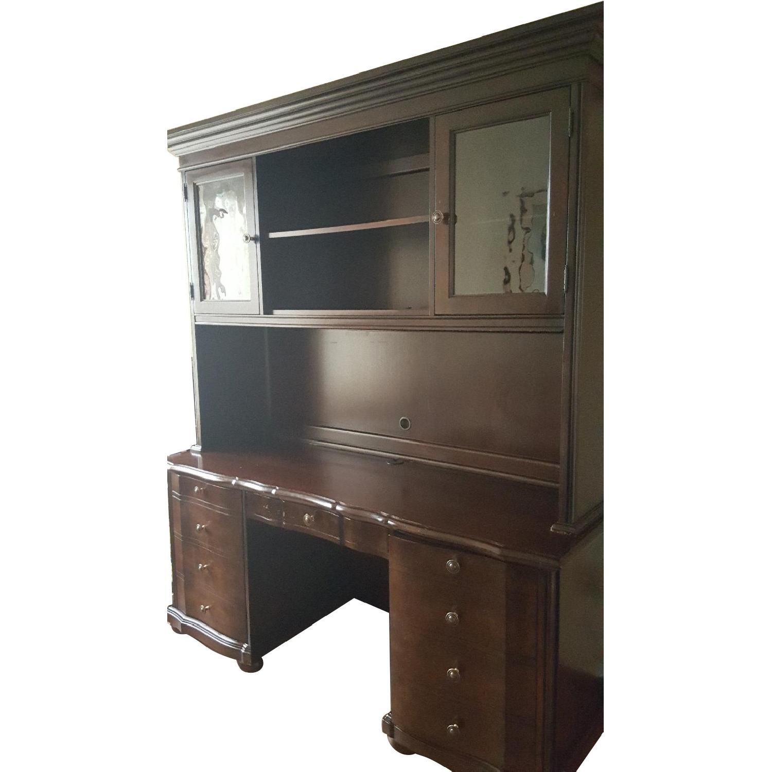 Raymour & Flanigan Desk & Hutch - image-0