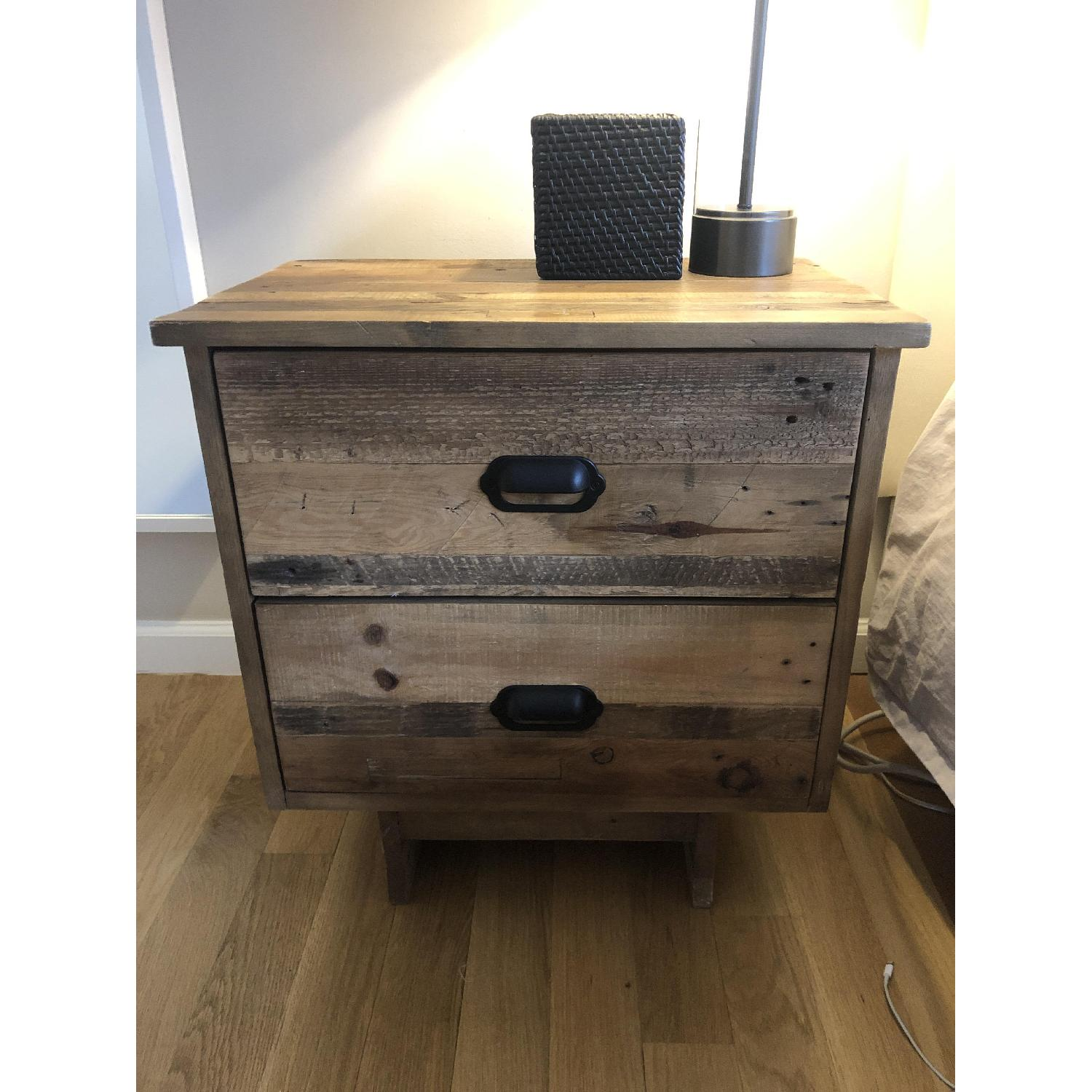 West Elm Emmerson Reclaimed Wood 2-Drawer Nightstand - image-3