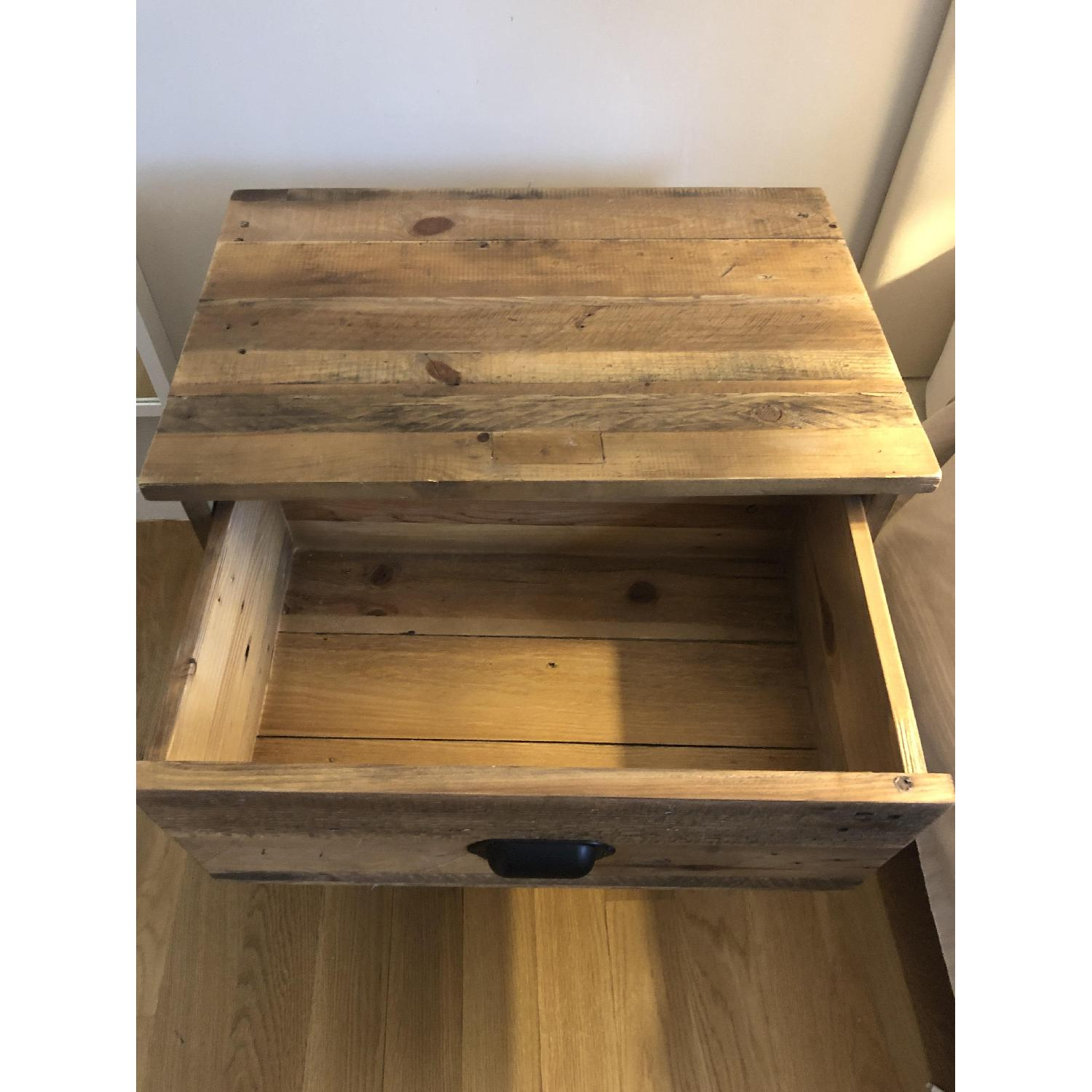 West Elm Emmerson Reclaimed Wood 2-Drawer Nightstand - image-4
