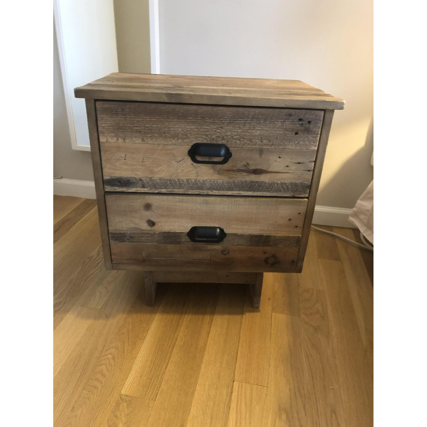 West Elm Emmerson Reclaimed Wood 2-Drawer Nightstand - image-6