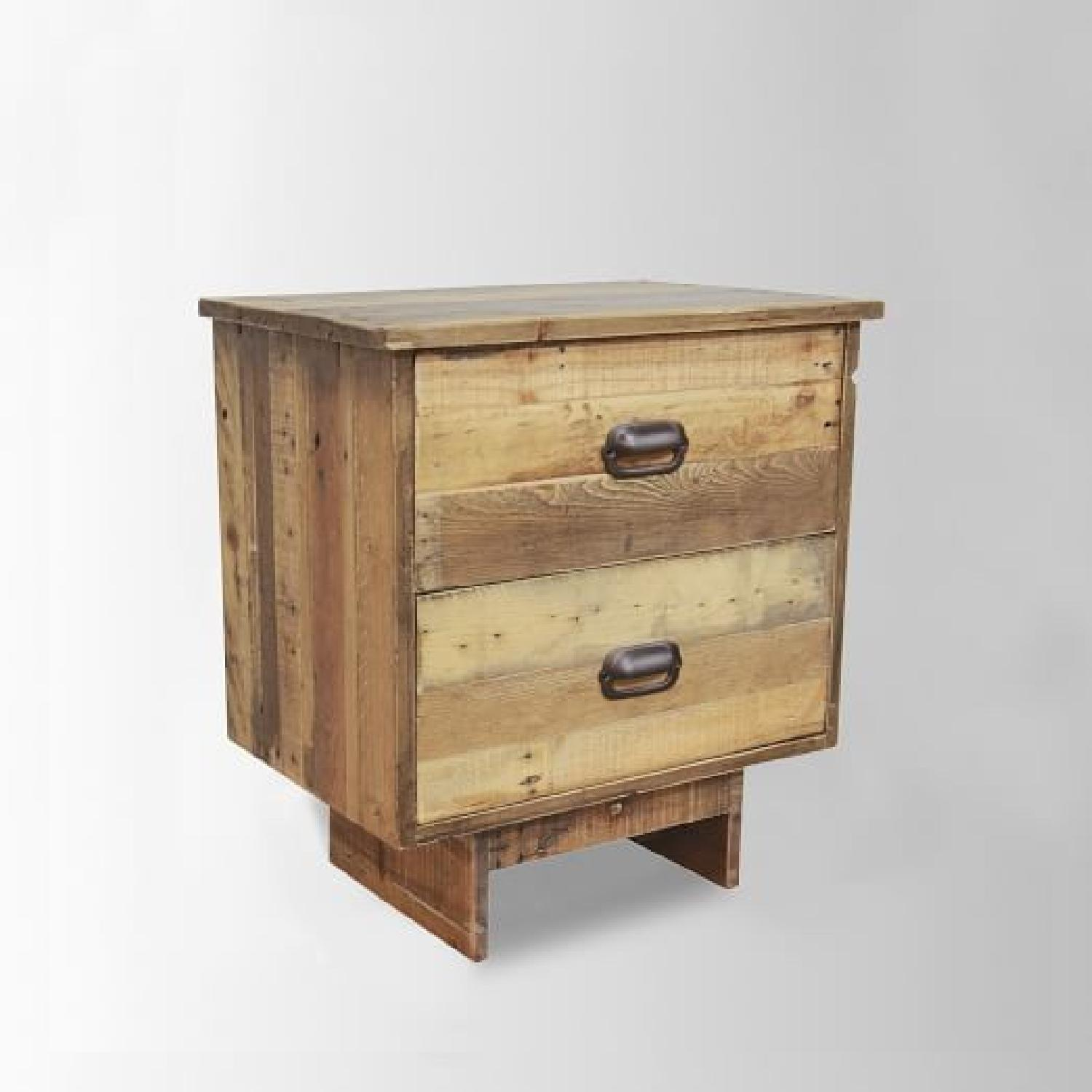West Elm Emmerson Reclaimed Wood 2-Drawer Nightstand - image-7
