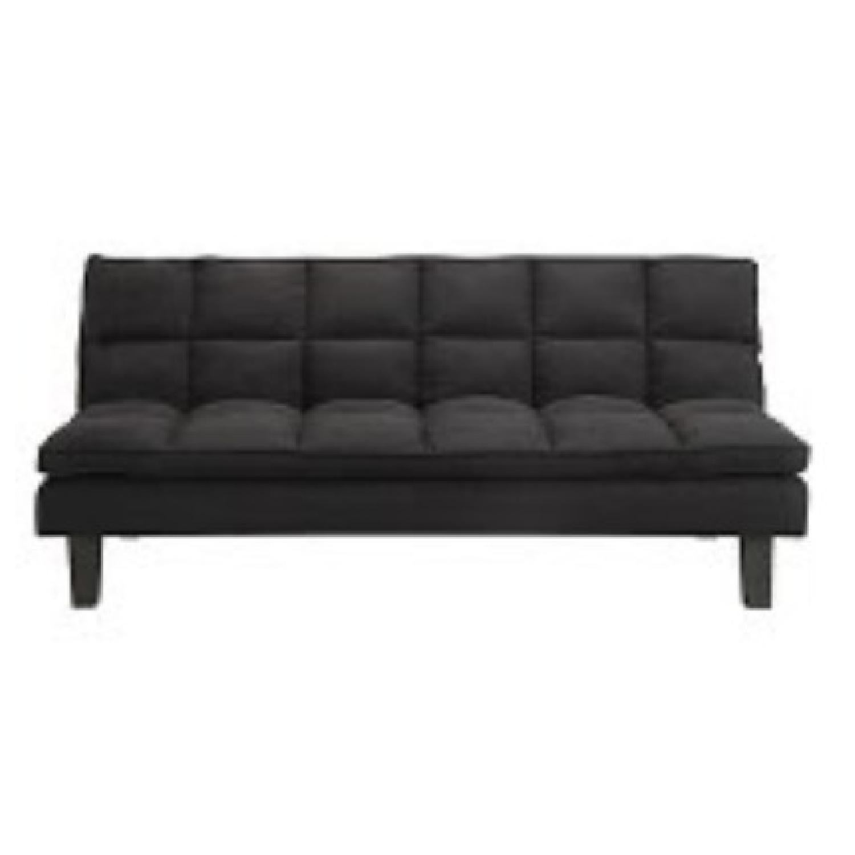 DHP Allegra Black Pillow-Top Futon - image-0