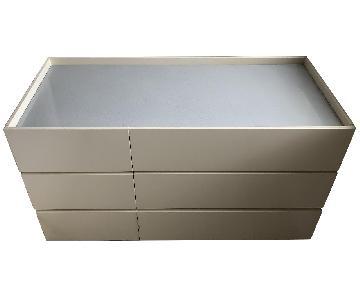 Custom 6-Drawer Dresser w/ Stone Insert