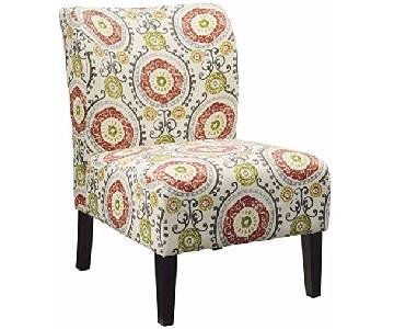 Ashley Accent Chair in Pink/Green/White