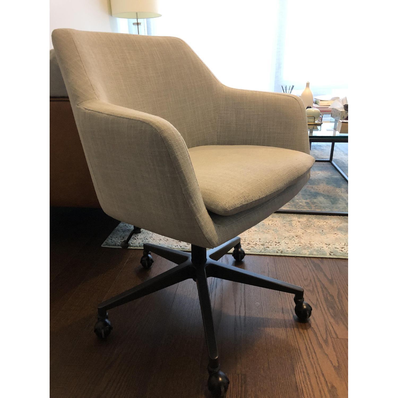 West Elm Helvetica Swivel Desk Chair - image-1